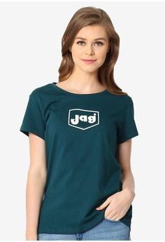 98ec834d JAG green Ladies Roundneck Basic Streetwear Logo Tee F7DF6AA749E0C0GS_1