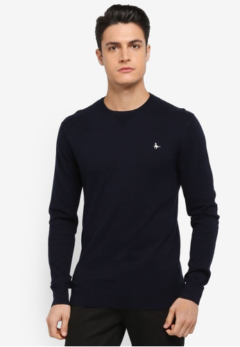 Jack Wills navy Seabourne Crew Neck Jumper 3D33DAAC568C61GS_1