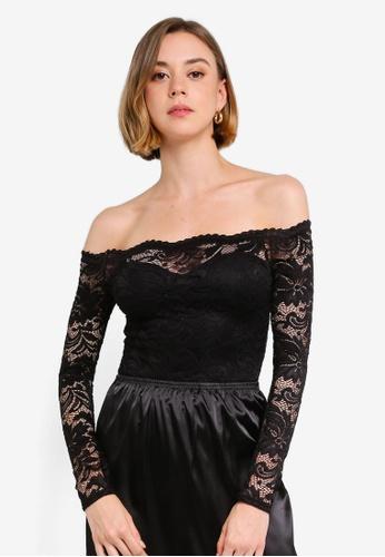 9c776a27fce6 Buy MISSGUIDED Petite Bardot Lace Bodysuit Online on ZALORA Singapore