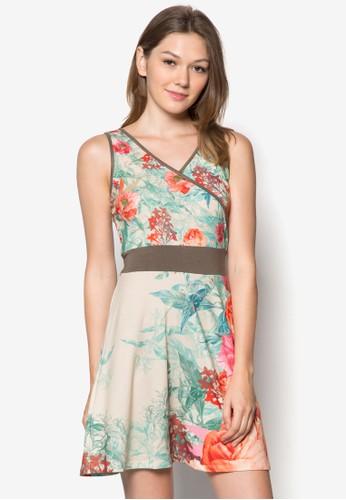 Fnzalora開箱ifors 復古印花腰飾洋裝, 服飾, 夏日洋裝