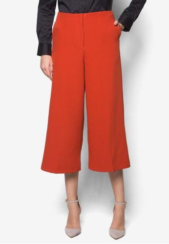 Melissa 素色寬管褲, 服飾, zalora開箱長褲及內搭褲