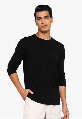 GAP black Everyday Crew Long Sleeve T-Shirt 908C4AA51E451DGS_1