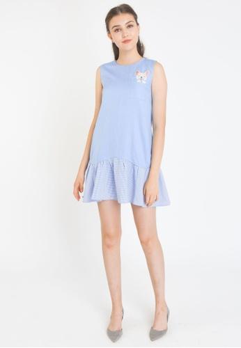 L'zzie blue LZZIE EL PUG DRESS - BLUE DA593AA2D7ED7FGS_1
