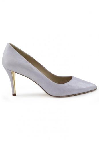 Shu Talk 紫色 金屬色羊軟皮尖頭高跟鞋 SH544SH099UOTW_1