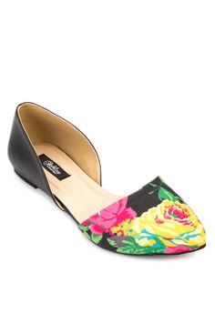 Jasmine Pointed Toe D'orsay Flats