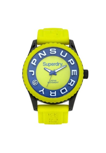 Superdry yellow Superdry Tokyo SYG191N Blue, Black and Yellow Rubber Watch 2E5D0AC55FF5EEGS_1