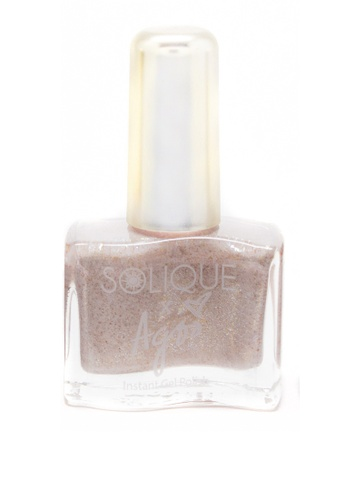 Solique beige Nylon Instant Gel Polish (A Luxe Nude With Gold Specs) D3A30BE0FDCD4AGS_1