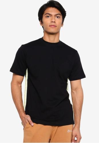 Mennace black Short Sleeves Branded Mennace Limited Side Tape Tee 67EB1AA0EE434BGS_1