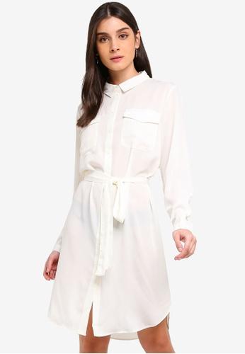 JACQUELINE DE YONG white Iben Shirt Dress 1B38EAA09B57AFGS_1