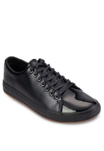 esprit門市漆皮繫帶低筒休閒鞋, 鞋, 鞋