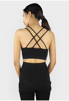 Criss Cross Back with Strap Top/Bralette