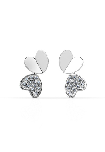 Her Jewellery silver Swarovski® Crystals - Loving Earrings (18K White Gold Plated) Her Jewellery HE581AC0RDH5MY_1