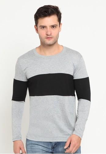 Ornith grey Contrast Stripe T-shirt 0DFD3AA6F382FCGS_1