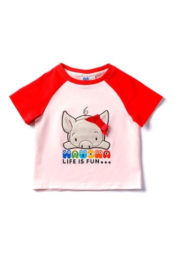 Vauva red Vauva Hauska Girls Ribbon Piggy Tee - Red 563BBKA2E4E12CGS_1