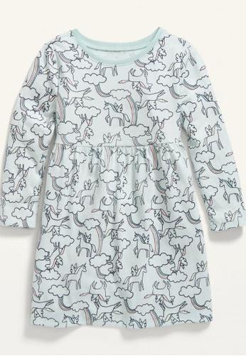 Old Navy blue Toddler Girls Long-Sleeve Fit & Flare Printed Dress E0B61KA22C273DGS_1