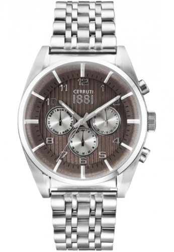 CERRUTI 1881 silver Multifunction All Stainless Steel Copper Dial Men Watch CE514AC52QNZMY_1
