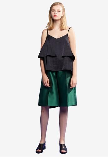綢緞層次寬擺背心, 服飾, esprit服飾上衣