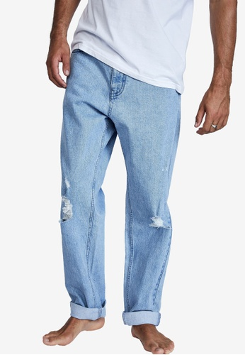 Cotton On blue Relaxed Tapered Jeans C961EAA49CC342GS_1
