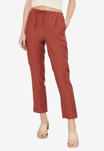 Trendyol red Jogger Waist Tencel Trousers 1DE83AAF02D3C6GS_1