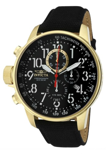 INVICTA black I-Force IN1515 Black Canvas Strap Chronograph Men Watch IN456AC0RJ4KMY_1
