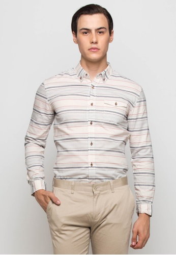 The Executive multi Brushed Long Sleeve Shirt TH044AA0SEUCMY_1
