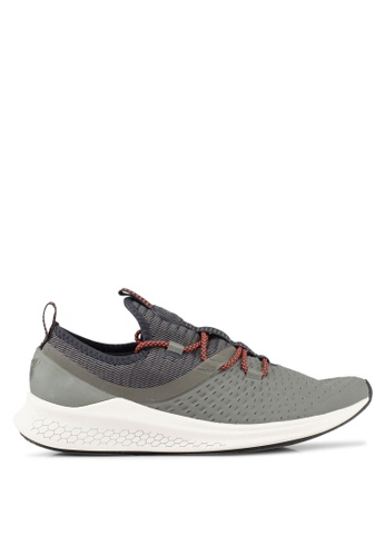New Balance grey and green LAZR (Hyposkin) Fresh Foam Performance Running Shoes NE323SH0SXN1MY_1