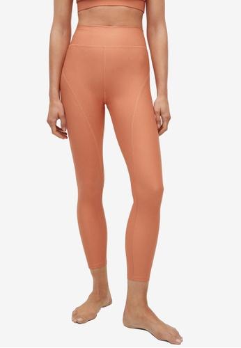 Mango orange Breathable Sports Leggings C0083AA752AC05GS_1