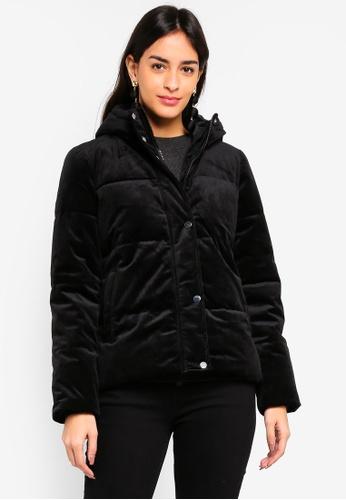 Vero Moda black Paddy Velvet Short Jacket 05908AA6531880GS_1