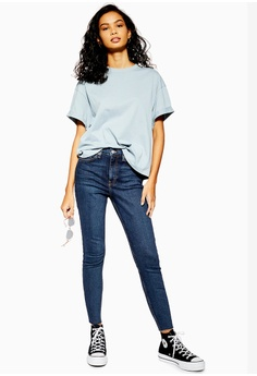 1f5f93bf2c0 20% OFF TOPSHOP Petite Vintage Indigo Raw Hem Jamie Jeans S$ 89.90 NOW S$  71.90 Sizes 24 25 26 28 30