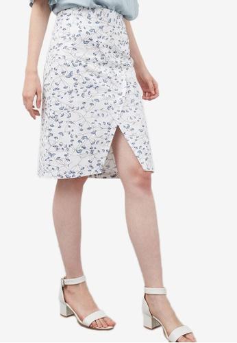 Berrybenka white Halvor Skirt 6A638AADB50C74GS_1
