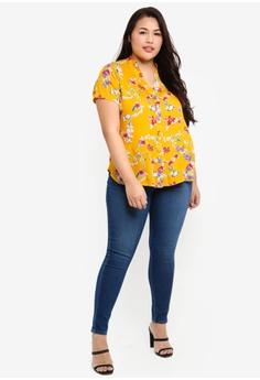 45fa4f48c08 Ex otico Plus Size Mandarin Collar Blouse RM 89.00. Sizes XXXL XXXXL XXXXXL