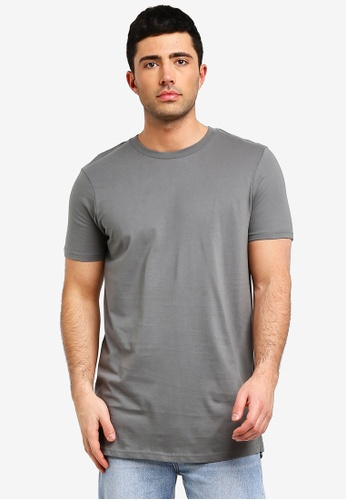 ae3a4a9d358 Buy Cotton On Essential Longline Curved Hem Tee Online on ZALORA ...