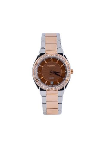 Bonia silver Bonia Rosso BR128-2643S - Jam Tangan Wanita - Silver Rosegold 30C22AC9919B31GS_1