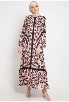 Kamilaa by Itang Yunasz pink and multi Gamis Etnik 971ADAAFFBAF88GS_1