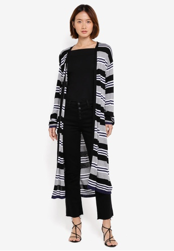 NAIN black Multi Stripe Cardigan 851ABAA6506BE8GS_1