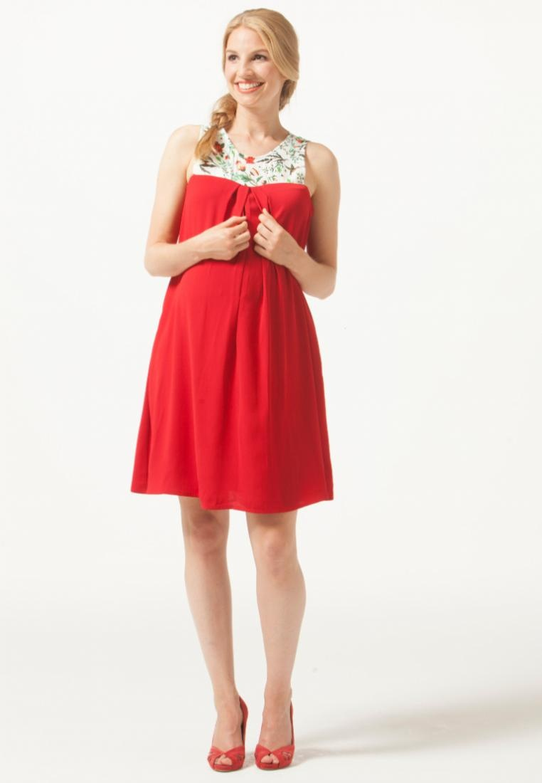 Dress Spring Diane Red Print Nursing by Maternity Bliss Bove 6TXxq
