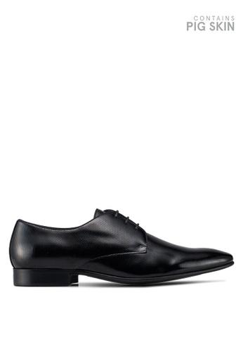 Dune London black Piccolo Emboss Patent Gibson Shoes 1C36CSH9571FAEGS_1