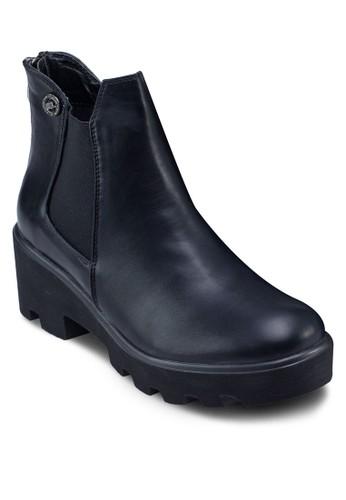 彈性帶粗跟踝靴, 女鞋esprit香港門市, 靴子