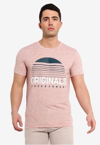 Jack & Jones 粉紅色 混色印花T恤 EE850AA12CE808GS_1