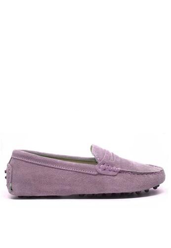Twenty Eight Shoes 紫色 女裝真猄皮豆豆鞋M88 A5894SH7611B26GS_1