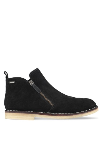 KG Kurt Geiger black Otis Black Suede Boots KG303SH0SCM5MY_1