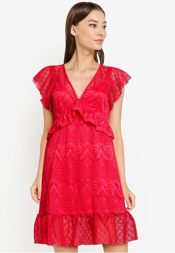 GUESS red Angelica Dress AD83EAA6234857GS_1