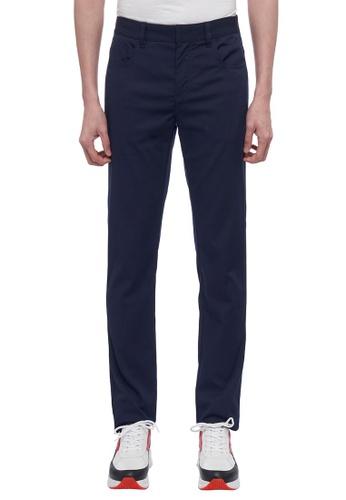 ck Calvin Klein 海軍藍色 環保料彈力褲 7DFE2AA6DA61B8GS_1