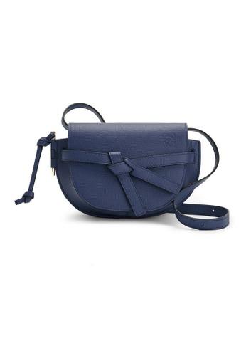 LOEWE blue Loewe Gate Dual Mini Crossbody Bag in Ocean 83359AC64D9071GS_1