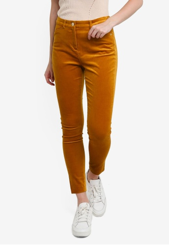 ESPRIT yellow Woven Skinny Pants A0120AAD7A9499GS_1