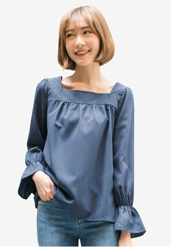 Tokichoi blue Mini Bell Sleeved Blouse BE224AAA13CCB5GS_1