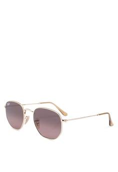 f7cb1d935dfc Ray-Ban gold Ray-Ban Hexagonal Flat Lenses RB3548N Sunglasses  4B668GL0491EBEGS_1