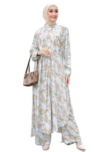 Karina Design brown Antalya Tunik Set 8A6EDAA359AEDFGS_1