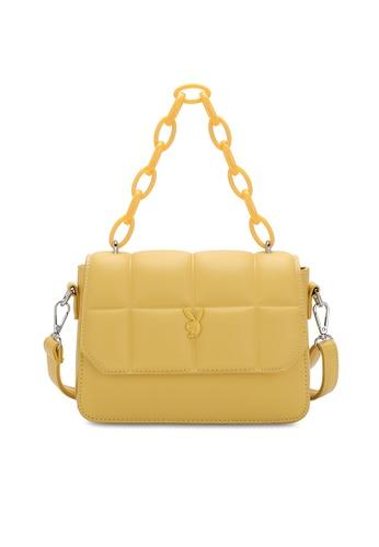 PLAYBOY BUNNY yellow Quited Sling Bag C35CDAC0C60032GS_1