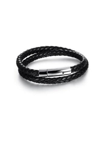 ADORA Stainless Steel Leather Bracelet AD365AC2V1AXHK_1